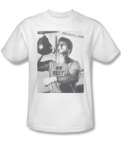 Vintage. Rocky in Black and White Mens Tee Shirt | Generation T