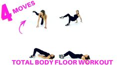 TOTAL BODY WORKOUT YOU CAN DO ON THE FLOOR - THESE 4 MOVES WILL TONE YOUR THIGHS, BOTTOM, ABS, ARMS AND WAIST. LUCY XX