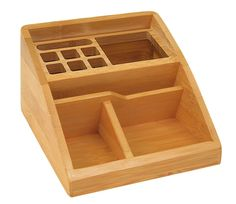 Wedo 5.4x12.3x9cm Bamboo Desktop Organiser - Brown