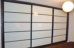 Oriental sliding doors wardrobe by Urban Wardrobes. Ceiling Lights, Home Decor, Room Divider, Light, Storage, Sliding Doors, Doors, Wardrobe Doors, Storage Solutions
