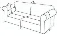 como realizar fundas para un sillón Sewing Crafts, Sewing Projects, Diy Sofa, Cushions, Pillows, Sofa Covers, Slipcovers, Sofas, Decoration