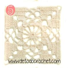 12 Patrones de Motivos Crochet / Descarga gratis Crochet Squares, Crochet Granny, Crochet Motif, Crochet Flowers, Granny Squares, Dream Catcher, Creative, Projects, Inspiration