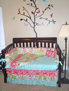 Custom Designed Crib Bedding Using Dena by SimplySassynSweet, $425.00