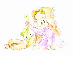 baby rapunzel (: on the wall in the nursery?