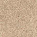 Carpet Sample - Lavish II - Color Vanilla Latte Texture 8 in. x 8 in., Beige/Ivory