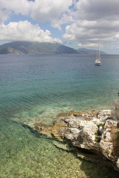 Ithaca from Fiskado, Kephalonia, Greece by EEPaul, via Flickr