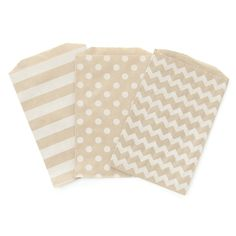 Patterned Brown Paper Bags - Peach Blossom