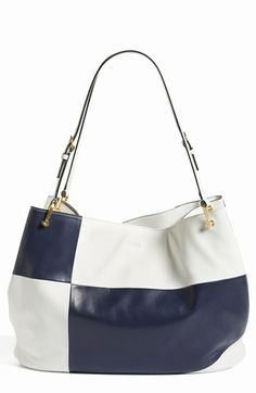 Tod's 'Borse - Grande' Colorblock Leather Shopper available at #Nordstrom