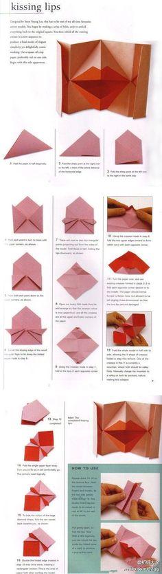 oragami lips diy craft crafts craft ideas oragami easy diy easy craft oragimi crafts