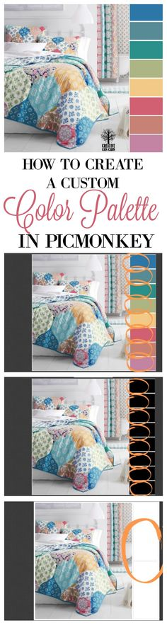 How To Create A Custom Color Palette In PicMonkey With Step by Step Photo Tutorial