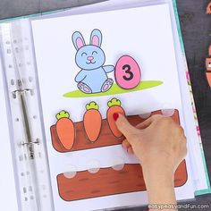 Printable Easter Quiet Book & Activity Book for Pre-K and K Crafts for Kids, Coloring pages, How to Draw TutorialsPrintable Easter Quiet Book – Activity Book for Pre-K and KCount with the bunnies and Easter Activities For Kids, Activities For 2 Year Olds, Pre K Activities, Toddler Learning Activities, Alphabet Activities, Down Syndrom, K Crafts, Kids Playing, Educational Activities