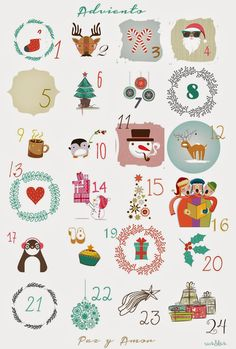 Si quieres aprender, ENSEÑA.: Calendario de Adviento Christmas Activities, Christmas Printables, Christmas Projects, Christmas Countdown Calendar, Diy Advent Calendar, Calendar Ideas, Christmas Makes, Noel Christmas, Christmas Ornaments