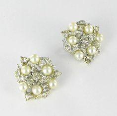 Vintage Faux Pearl and AB Aurora borealis by vintagejewelrylane, $15.99