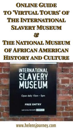 The ULTIMATE Guide to using online 'Virtual Tours' to visit Famous Places, Landmarks and Tourist Attractions! African American History Museum, African American Culture, Slavery Museum, Online S, Thing 1, Famous Places, National Museum, Educational Technology, Virtual Tour