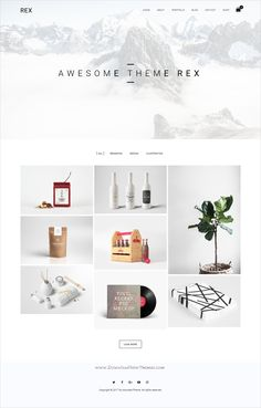Rex is a #minimal responsive #WordPress theme for #portfolio or project showcase website with WooCommerce support download now➩ https://themeforest.net/item/rex-minimal-wordpress-portfolio-theme/19430630?ref=Datasata