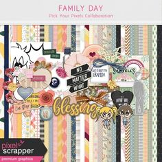 Family Day Collaboration | digital scrapbooking | project life, pocket scrapping, hybrid scrapbooking