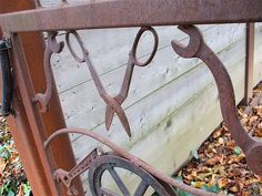 This cool rusty gate was made with a bunch of hand tools soldered into the design. Welding Art Projects, Welding Ideas, Vintage Tea Rooms, Black Smith, Farm Gate, Metal Gates, Garden Animals, Night Circus, Tractor Parts