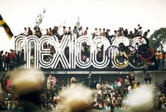 """walkerartcenter: """" Radiant Discord: Lance Wyman on the 1968 Olympic Design and Mexico's Tlatelolco Massacre """" Mexico Olympics, 1968 Olympics, Summer Olympics, Image Photography, Creative Photography, Amazing Photography, Lance Wyman, Mexico 68, Urban Icon"""