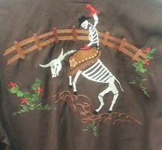 Brooks and Dunn PANHANDLE SLIM Skeleton Cowboy / Horse  Shirt Medium #PanhandleSlim #Cowboy