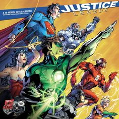 Justice League 2016 Wall Calendar | $14.99 | Spend the year with DC Comics popular super hero ensemble the Justice League with superheroes such as; Batman, Superman, The Flash, Wonder Women and many more in Justice League Wall Calendar. This is a perfect gift for DC and Justice Leagues fans!