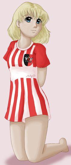 Football Girl by Aaelyn.deviantart.com on @DeviantArt