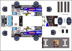 Truck Paper Model Papercraft | 2005 man team pro motor n553 - Maquette Dakar