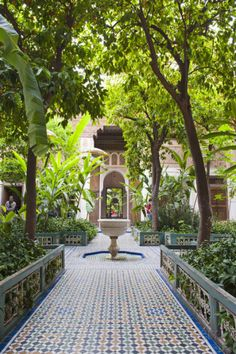 El Bahia Palace Courtyard, Marrakech, Morocco, North Africa, Africa Photographic Print by Matthew Williams-Ellis at AllPosters.com
