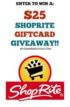 I just entered the $25 Shoprite Giftcard Giveaway on @gimmedelicious !!