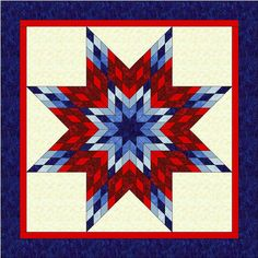 ROY-G-BIV Lone Star Quilt Pattern PDF Rainbow Star by AZQuiltCo