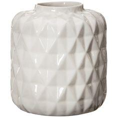 "$19.99 Online Price  Threshold™ Faceted Stoneware Vase - Cream 6"""