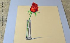 "The Secret Technique for 3D Drawings! - How to Draw an Anamorphic Rose i... (Download Anamorphic Templates in my board ""General Drawing Reference"")"