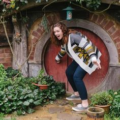 Once upon a time I visited a wee hobbit for elevensies and ended up staying for third lunch. #adventureswithbeckie #Californiakiwis2016 #hobbiton