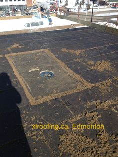 Edmonton roofing 2 ply sbs membrane system on pinterest for Fiberboard roof sheathing