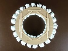Step by step diaper wreath instructions and pattern for how to make a classy rolled-diaper style of wreath. Create a beautiful and memorable baby shower gift. Baby Shower Crafts, Baby Shower Decorations For Boys, Shower Gifts, Baby Shower Diapers, Baby Boy Shower, Homemade Baby, Homemade Gifts, Diaper Wreath, Diaper Cake Instructions