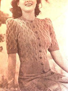 Balmoral Textured cardigan fabulous with di VanessaLovesVintage