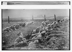 This picture is from the first World War with men in trenches. This picture shows how most of the first World War is fought. Men mostly fought from trenches if they wont fighting in a machine. Library Of America, Library Of Congress, World War One, First World, Ww1 Soldiers, Russian Revolution, Troops, Wwii, Trench