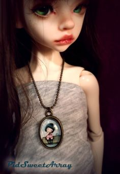 Cute handmade Spring girl necklace for MSD bjd by PidSweetArray