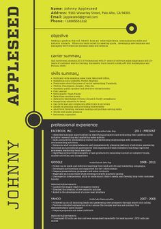 Curriculum To Life, Job Hunting, Creative Resume, Vita Cv, Mellow Colors, Resume Design