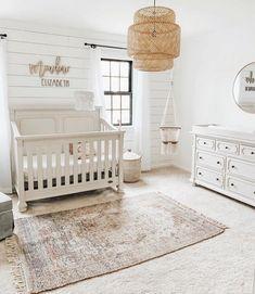 How gorgeous is this bright + airy nursery? How gorgeous is this bright + airy nursery? Baby Nursery Decor, Baby Bedroom, Nursery Neutral, Nursery Room, Kids Bedroom, Neutral Nurseries, Nursery Ideas, Baby Girl Rooms, Baby Girl Nursey