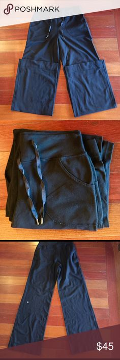 Black lululemon Be Still pants Inseam 30. Good conditions; only ever hang dried. Has some very light pilling, but no rips, holes or stains. For reference, I am 5'6 135 lbs lululemon athletica Pants Leggings