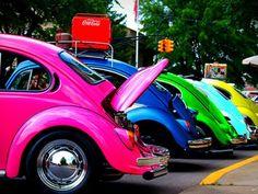 colorful VW Beatles .......... fav little car