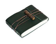 Rustic Leather Journal or Leather Sketchbook por heyerdesigns