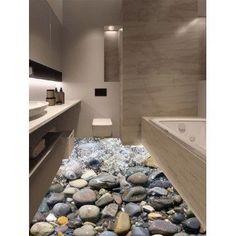 3D Vinyl Stone Stream Floor Sticker