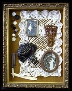 shadow box. Great way to display mementos from a wedding, a vacation, or the birth of a child.