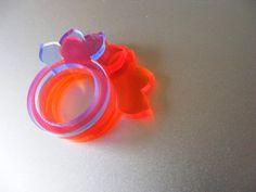 petals 1 Ring - Laser Cut Fluorescent Acrylic Perspex £4.00