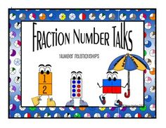 This file contains fraction number talks that can be used as warm-ups to help students conceptually understand fractions.  The files follow the progression of fraction development with early fraction sense and end during middle school.  The purpose of fraction number talks is to strengthen both conceptual and procedural understanding of fraction relationships along with practice of mental math skill.