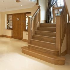 You can choose bold, beautiful and contemporary styles to create the perfect environment for your home. High quality, wooden staircases from James Grace. Bespoke Staircases, Wooden Staircases, Staircase Design, Staircase Ideas, Hallway Ideas, Barn Conversion Interiors, Oak Frame House, Attic Rooms, Home Furnishings