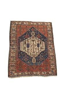 Woolley and Wallis - Bakhtiari rug, Chahar Mahal Valley, south west Persia, inscribed and dated '1315 AH', 72 x 55in (183 x 140cm).
