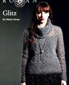 FREE ROWAN PATTERN: Glitz by Martin Storey in Rowan Kidsilk Haze Glamour, 9-13 skeins.