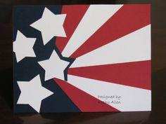 Sprinkled With Sunshine: Flag Card for Flag Day | Tuesday, June 14, 2011 | OWH starburst tutorial: http://www.owhstarsandstamps.org/2011/06/tutorial-starburst.html